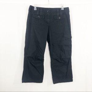 The Limited Crop Cargo Capris Pants, Size 8, Black